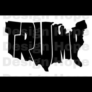 Trump USA decal 4""